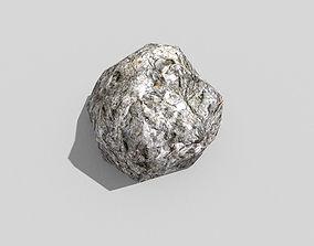 low poly rock 3D asset