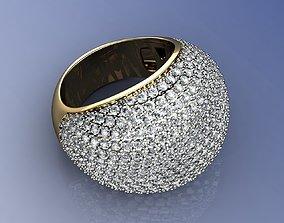 Lux Diamond Ring Yellow Gold 18K 3D print model