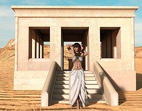 3D model game-ready White Chapel of Senusret I