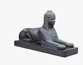 realtime Cheboxary Sphinx Scanned Sculpture 3d
