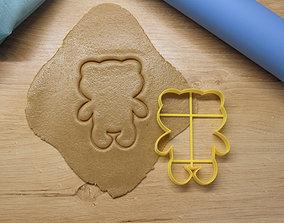 Teddy bear cookie cutter cooky 3D print model
