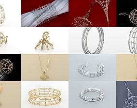 Fashion Lines Jewelry Collection 3D model
