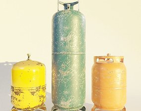 3D model VR / AR ready gas canister or propane cylinder