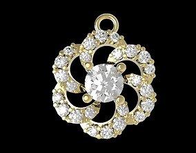 388 Diamond Pendant for women 3D print model