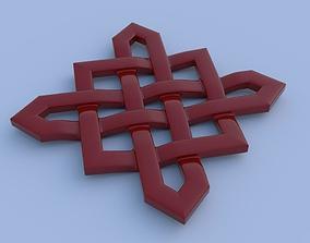 Celtik cross knot 3D printable model