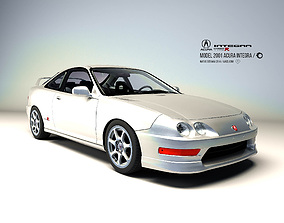 Acura Integra 2001 3D asset