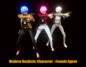 3D model Modern Realistic Character - Female Agent