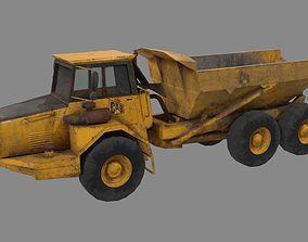 Dump truck low poly 3D asset