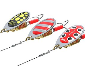 Animated Fishing Spinner 3D