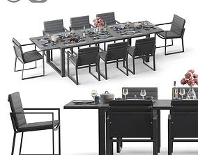 PRIMAVERA DINING EXTENDABLE LAVA 3D asset