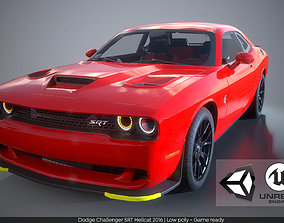 3D model Dodge Challenger SRT Hellcat 2016 PBR GameReady