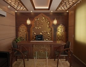 3D model Islamic Manage office
