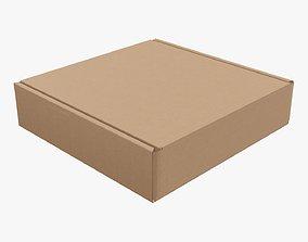 Corrugated cardboard box packaging 02 3D model