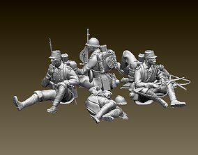3D print model French soldier ww1