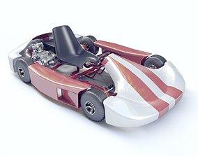 Go-kart Racing 3d model Vray