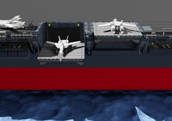 Macross hanger deck