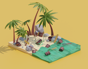 Treasure island 3D model