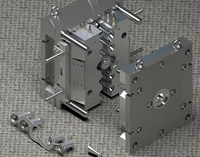 3D model animated Aluminum injection mold