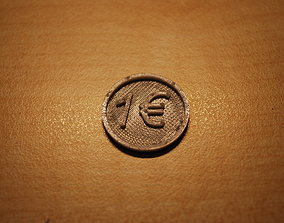 Prinduino 3D Print 2 - 1 Euro coin for shopping cart