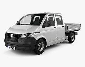 3D model Volkswagen Transporter Double Cab Pickup 2019