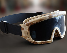 3D asset Military Camo Goggles PBR