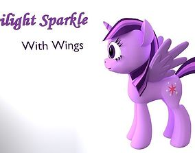 My Little Pony TwilightSparkle With Wings 3D game-ready