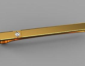 3D print model platinum Tie clip