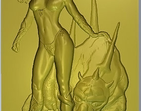3D print model The Lady with the Monster