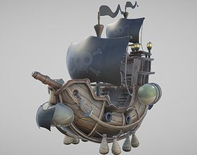 Flying Pirate Ship 3D model