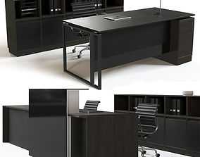 Office reception furniture set 3D