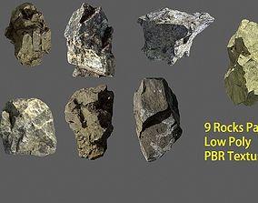 Rock pack Vol 1 3D asset VR / AR ready