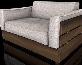 3D asset Sofa Estofado pequeno
