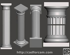 Doric Column - 3d model for CNC - DoricColumnCFC01