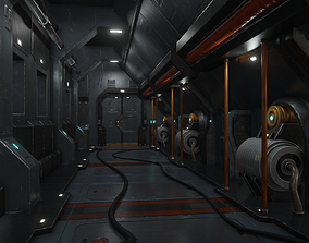 3D model Sci fi interior 03 PBR real time