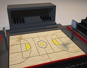 Basketball Court 3D model VR / AR ready