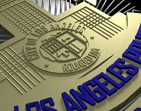 3D Printable LAPD Badge With STL file seargent