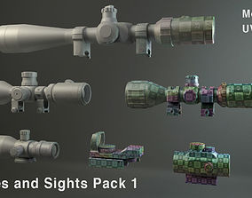 Scopes and Sights Pack 1 3D model