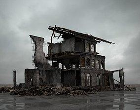 3D destroyed building 097 am165