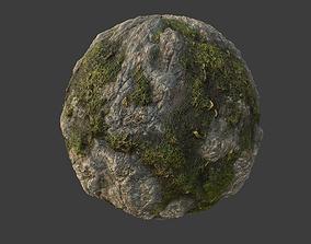 3D Mossy Rock Material