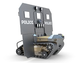 RBS1 SWAT BOT Robotic Ballistic Shield 3D model