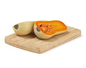 3D Sliced Oblong Pumpkin