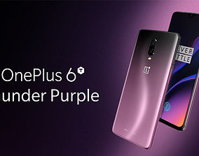 cell Oneplus 6T Thunder Purple 3D Model