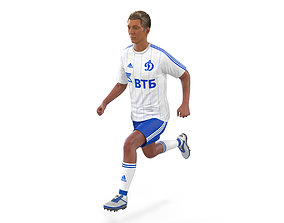 Soccer Player Dynamo Rigged 2 3D Model rigged