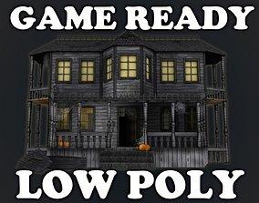 3D asset Haunted Halloween House