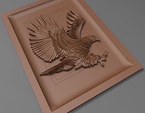 Eagle bas relief for CNC 3D printable model