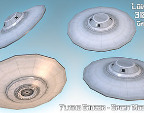 Flying Saucer - Sport Model low-poly
