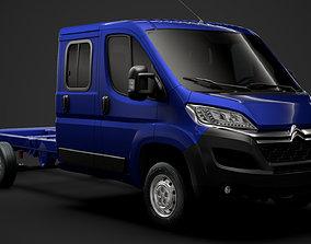 Citroen Jumper Relay Chassis Truck Crew Cab 3D model 3