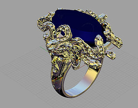 3D printable model Ring jellyfish-medusa with