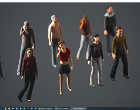 3D model Lowpoly People 02