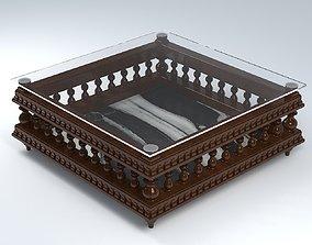 3D ANTIQUE TRUNK TABLE